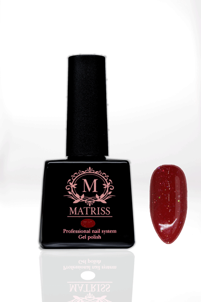 Ημιμόνιμο βερνίκι Κόκκινο με γκλίτερ M145